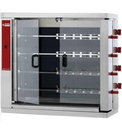 Diamond Rôtissoire électrique | vitrocéramique | 4 broches | 24 poulets | 1098x480x1000(h)mm | 19,2kW