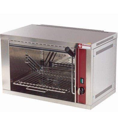 Diamond Salamandre électrique | 1 grille réglable | minuteur | 60x35x(h)40cm | 2.2kW