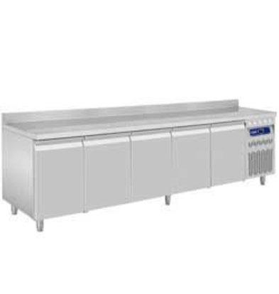 Diamond Comptoir Réfrigéré Ventilé   INOX   5 Portes GN 1/1   700 Litres    2625x700x850/900(h)mm
