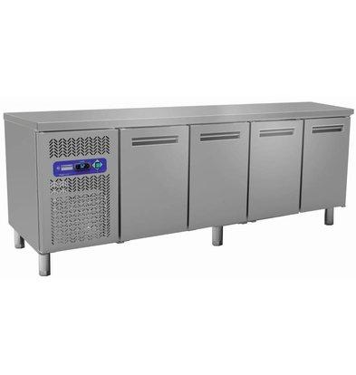 Diamond Comptoir Réfrigéré Ventilé | INOX | 4 Portes GN 1/1 |  550 Litres | 2250x700x(h)880/900mm
