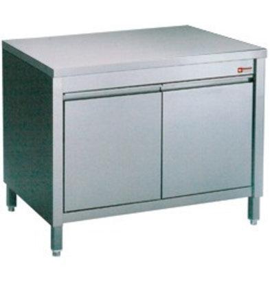 Diamond Comptoir Armoire neutre | INOX | avec 2 portes battantes | 600x700x(h)900mm