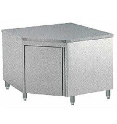 Diamond Comptoir Armoire neutre à angle 90° | avec porte battante 1000x1000x900 (h)