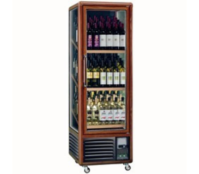 Diamond Vitrine cave à vin| Eclairage intérieur | 340 litres | 3 faces vitrées | 594x615x(H)1810mm