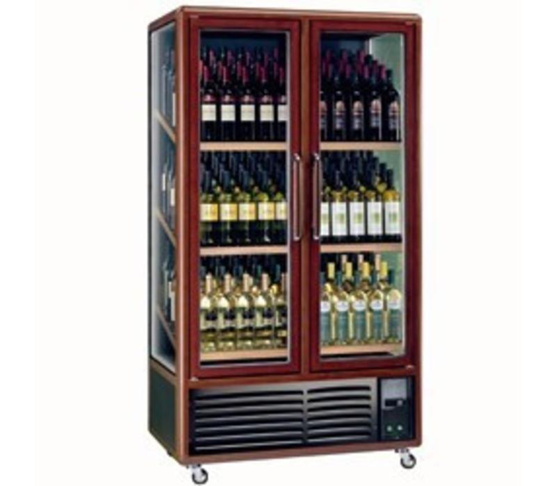 Diamond Vitrine cave à vin | 680 litres | Eclairage intérieur | 3 faces vitrées|  Double porte coulissante | 1000x615x(H)1810mm