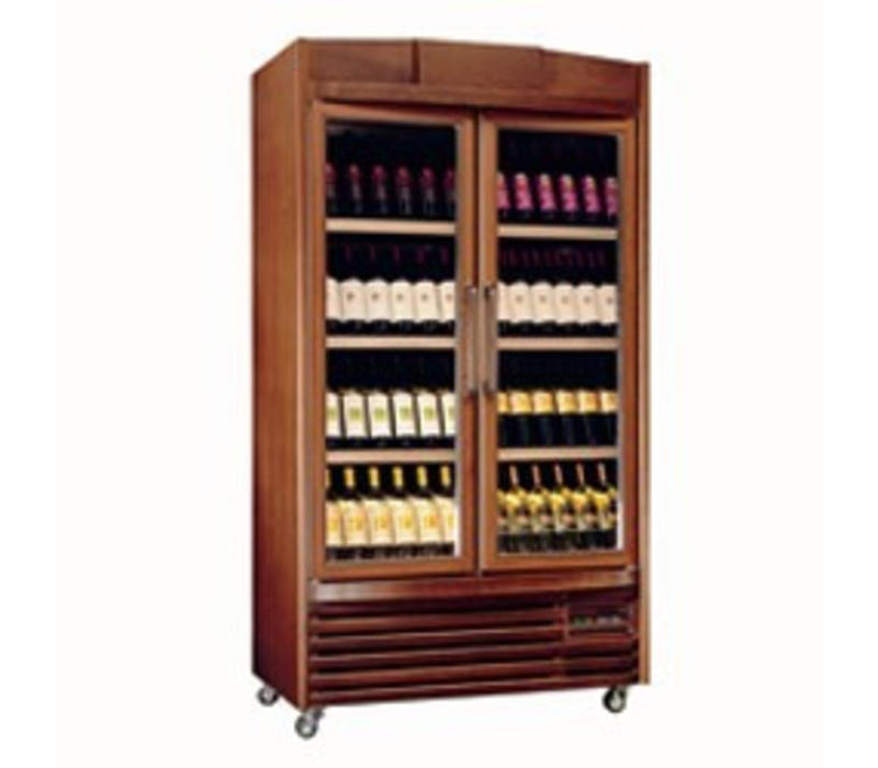 Diamond Vitrine cave à vin |  Eclairage intérieur | 680 litres | 4 températures | 1090x661x(H)1987mm