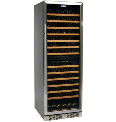 Diamond Vitrine cave à vin | Ventilée | 375 litres | porte en acier inox | 2 températures | BLACK | 595x680x1760(h)mm