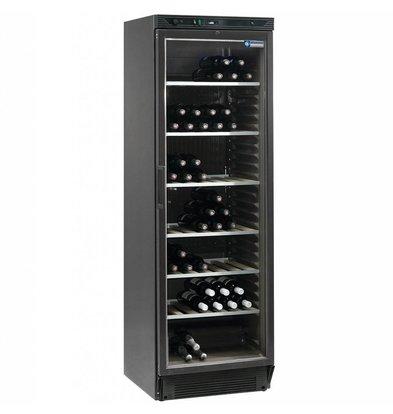 Diamond Vitrine cave à vin | Ventilée | 380 litres | Porte en verre | NOIRE | 595x595x(h)1940mm