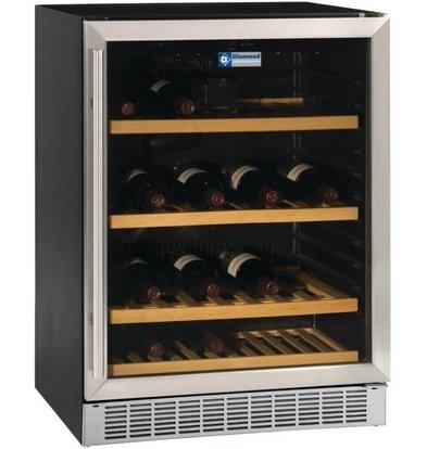 Diamond Vitrine cave à vin | Ventilée | 375 litres | porte en acier inox | BLACK | 160W | 595x570xh820mm