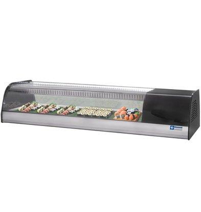 Diamond Vitrine Réfrigérée pour sushi   double fond perforé (inclus)   6 x 1/3GN   1380x415x(h)270mm