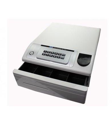 CHRselect Tiroir-Caisse | Avec Code Pin | ND-350 Blanc | 4 Pièces - 4 Billets | 354 x 418 x 165(h) mm