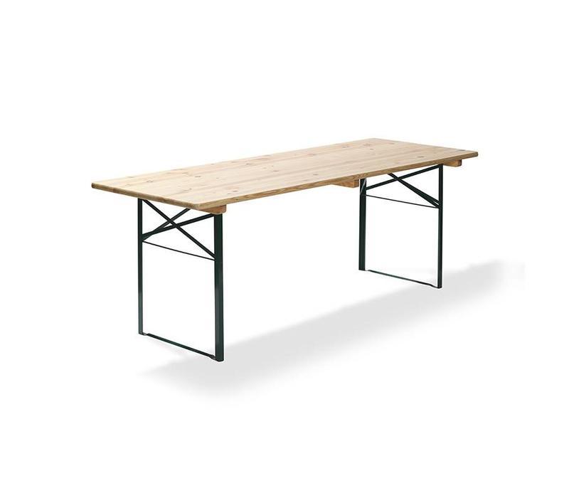 CHRselect Table de bière | Vert | 28 Kg | L 220 cm - L 70 cm | Lot de 4