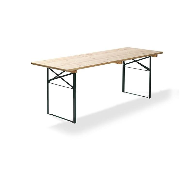 CHRselect Table de bière | Vert | 32 Kg | L 220 cm - L 80 cm | Lot de 4