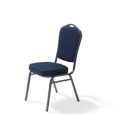 CHRselect Chaise Empilable | Castle | Noir | 5 kg | 520x440x(H)930 mm
