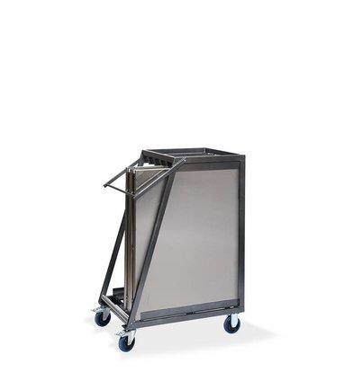 CHRselect Chariot Tables | Multifonctionnelles | Martelé | 880x650x(H)1130 mm