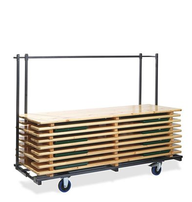 CHRselect Chariot pour Ensemble de Bière | Martelé | H 170 cm - L 230 cm - L 59-89 cm