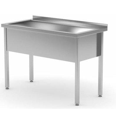 CHRselect Lavabo XL | INOX | 300mm(h) | Rebord | 700(l)x600(p)mm | Choix de 6 Largeurs