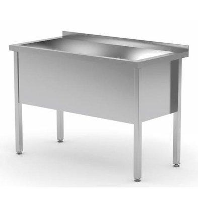 CHRselect Lavabo XL | INOX | Evier 400(h)mm | Rebord | HEAVY DUTY | 700(l)x700(p)mm | Choix de 6 Largeurs
