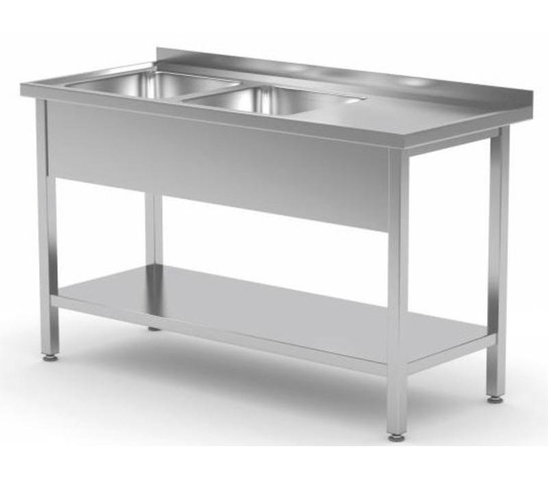 Chrselect Table Evier Inox 2 Eviers Xxl De 500x400x H 250 1100 L X700 P Mm Choix De 9 Largeurs