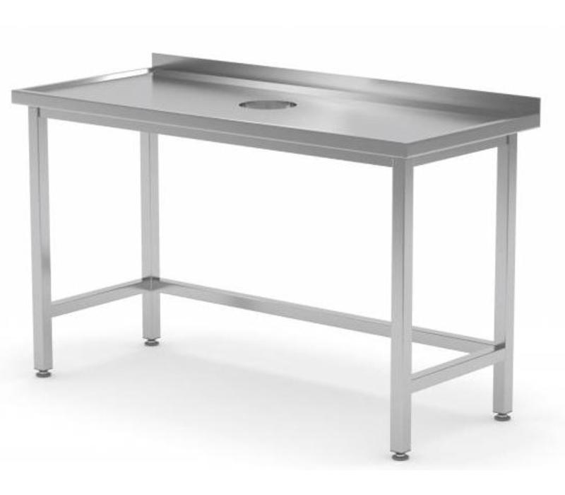 table de travail inox avec trou d 39 evacuation pour. Black Bedroom Furniture Sets. Home Design Ideas