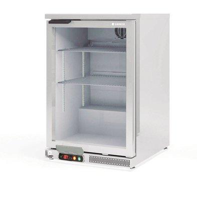 Coreco Frigo Bar | INOX | Porte en Verre | 2 Niveaux réglables | 130 Litres | 62x52x(H)90cm