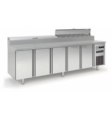 Coreco Saladette 5 Portes | 14x GN 1-6|269,5x70x(H)104,3cm