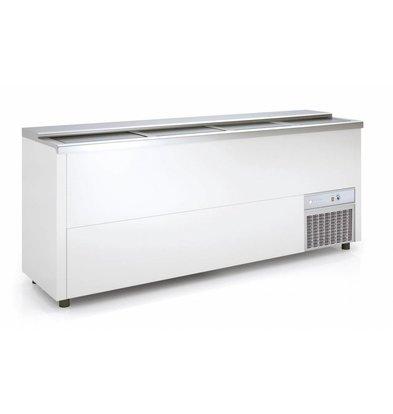 Coreco Bar Comptoir Réfrigéré   Couvercle Coulissant   BEG200-EA   200,5x55x(H)85cm