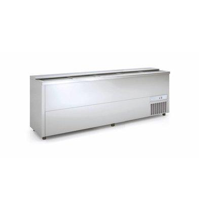 Coreco Bar Comptoir Réfrigéré   INOX   Couvercle Coulissant   BE250-I  248x55x(H)85cm