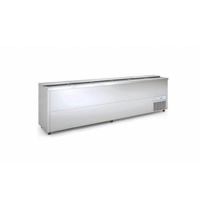 Coreco Bar Comptoir Réfrigéré   INOX   Couvercle Coulissant   BE300-I   297x55x(H)85cm