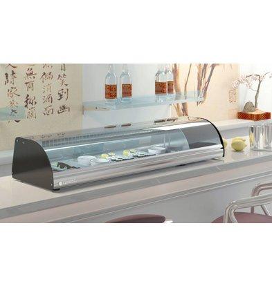 Coreco Vitrine à Sushi | INOX | BCS-4 | 105x41x(H)25,5cm