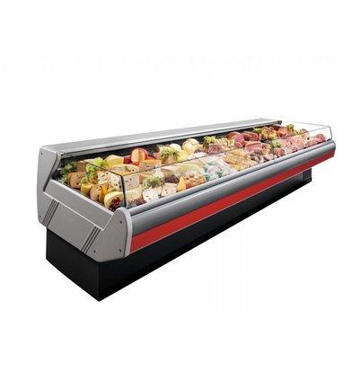 Arneg Comptoir de Refroidissement | Avec Eclairage | Plan de Travail en Marbre | DALLAS/3 VC 1250 | Arneg | 133x1145x(H)89cm