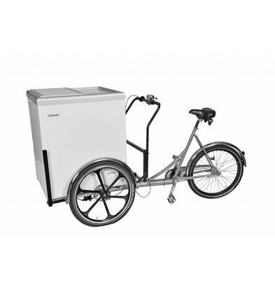 Elcold Vélo Mobilux Koel avec Congélateur | Noir | Convient pour une Batterie 12V | 201x90x(H)118mm