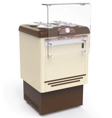 Framec Vitrine à Crèmes Glacées | DOLCE VITA 4 | Framec | 4+4 x 7,5 Litres | 65,4x66,5x(H)103cm