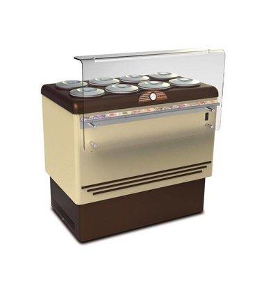 Framec Vitrine à Crèmes Glacées | DOLCE VITA 8 | Framec | 8+8 x 7,5 Litres | 110,5x71,3x(H)103cm