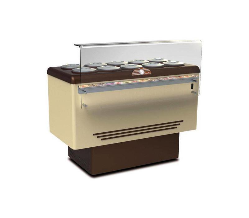Framec Vitrine à Crèmes Glacées | DOLCE VITA 10 | Framec | 10+10 x 7,5 Litres | 143,5x71,3x(H)103cm
