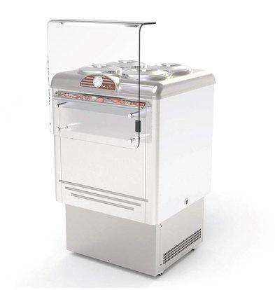Framec Vitrine à Crèmes Glacées | DOLCE VITA 4 LUX | Framec | 4+4 x 7,5 Litres | 65,4x66,5x(H)103cm
