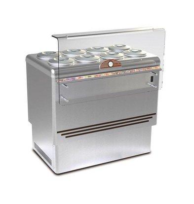 Framec Vitrine à Crèmes Glacées | DOLCE VITA 8 LUX | Framec | 8+8 x 7,5 Litres | 110,5x71,3x(H)103cm