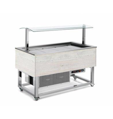 Afinox Buffet  Réfrigéré | Refroidissement Forcé | 3x 1/1 GN | Afinox | Couleur Hemlock | 116,9x76x(H)132,6cm