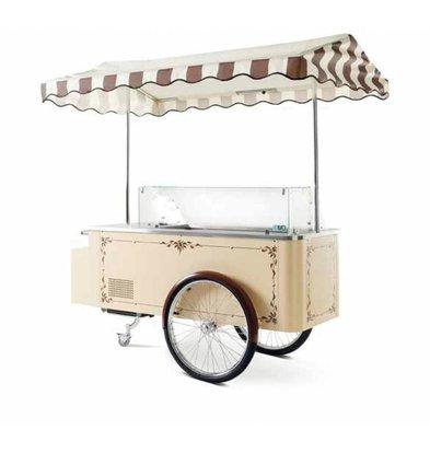 Isa Chariot à Glace Mobile | 6+6 Bacs 5L | en Verre | 200x128,5x(h)208,1 cm