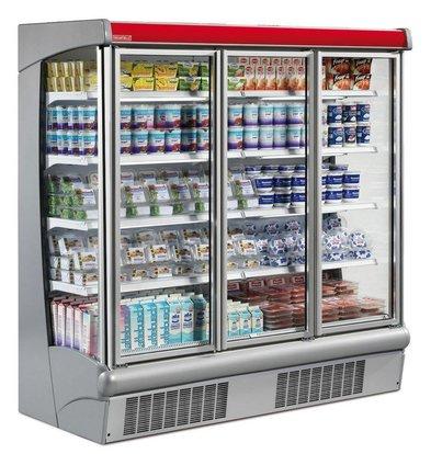 Oscartielle Meuble Réfrigéré Supermarché | 0/+2°C | Portes Pivotantes | Disponibles en 2 Largeurs
