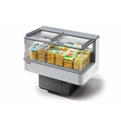 Oscartielle Ilot Réfrigéré | PULSAR 70 BT/TN | R404a | Self-Service avec Porte Vitrée | 74x55x(H)90,9cm