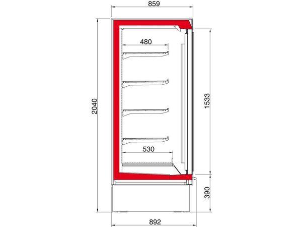 Oscartielle Meuble Congélateur| Porte Pivotante en Verre | Disponible en 2 Tailles