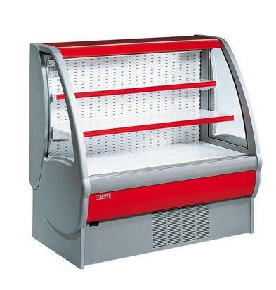 Oscartielle Meuble Réfrigéré | GENIUS MP H125 | avec Rideau de Sécurité | Disponible en 3 Tailles