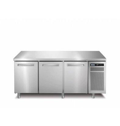 Afinox Comptoir Congelé | INOX | 3 Portes | SPRING 703 I/A BT | 178x70x(H)90cm |