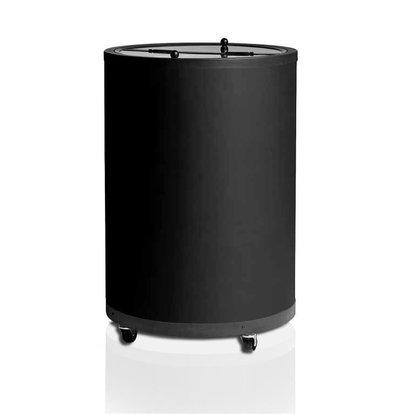 Esta Réfrigérateur Tonneau pour Boissons | avec Ventilateur | Esta Impulse | | Noir | Roues Pivotantes | 80 Litres | Ø56,7x83cm