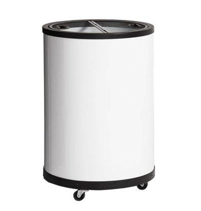 Esta Congélateur Tonneau Blanc | Esta Impulse | Roues Pivotantes | 80 Litres | Ø567x830mm
