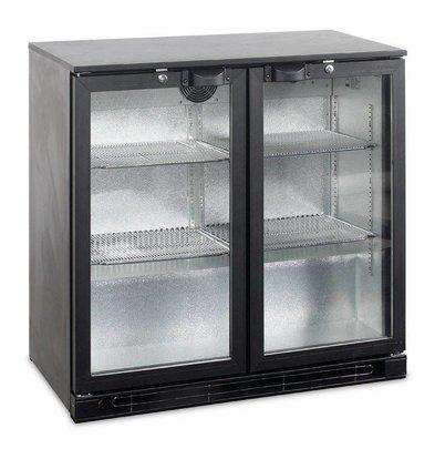 Esta Réfrigérateur Arrière-Bar | Noir | Porte Pivotante en Verre | BA25H R600a | Esta | 90x52x(H)87cm