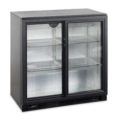 Esta Réfrigérateur Arrière-Bar | Noir | Portes Coulissantes en Verre | BA25S R600a | Esta | 90x52x(H)87cm