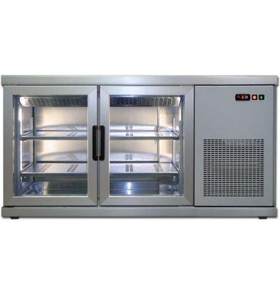 Tekna Vitrine Pâtisserie Comptoir | INOX | 2 Portes Vitrées (avant-arrière) | +10°/-5°C | Disponibles en 2 Tailles