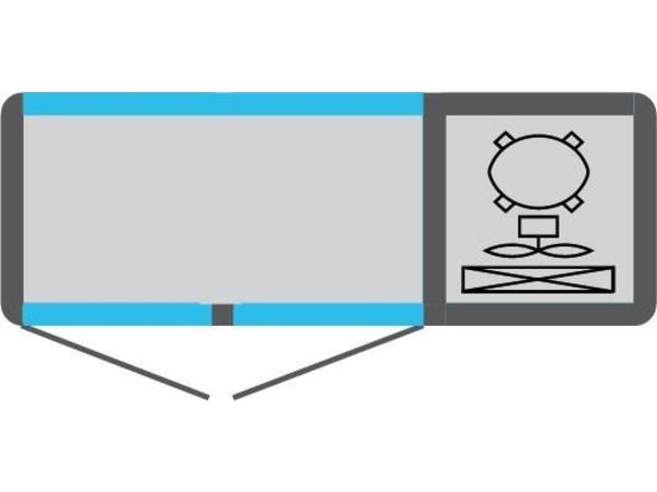 Tekna Comptoir Congélateur | INOX | 2 Portes Vitrées (avant-arrière) | +5°/-25°C | 134x55x(H)88,5cm