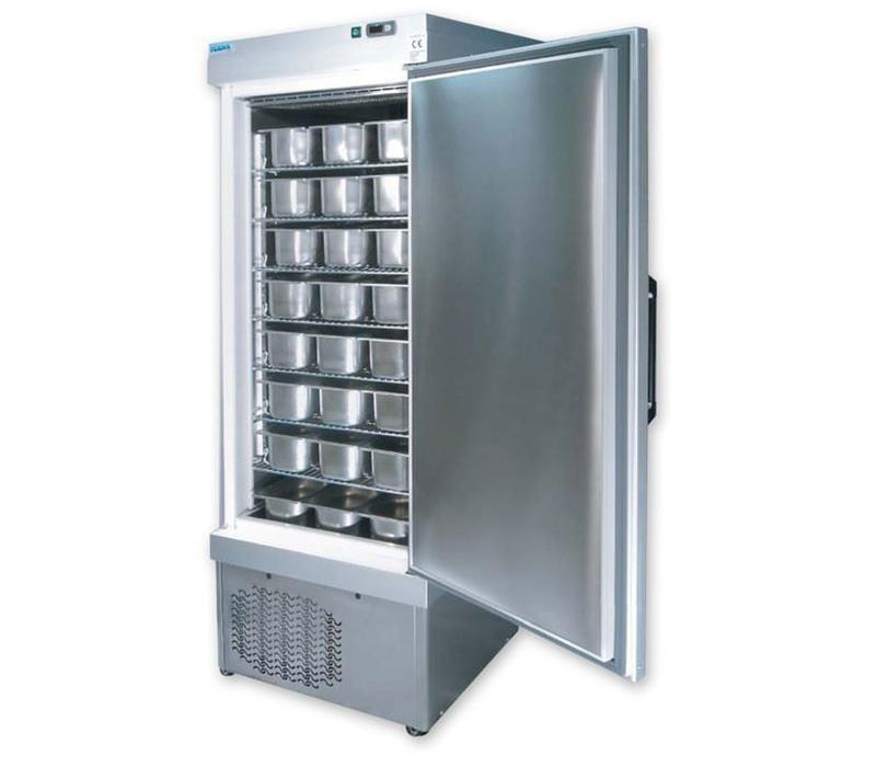 Tekna Congélateur Rangement de Bacs à Glaces | INOX | 5010 NFN/s | +5°/-35°C | pour 48x 5 Litres Bacs | 67x89x(H)193cm